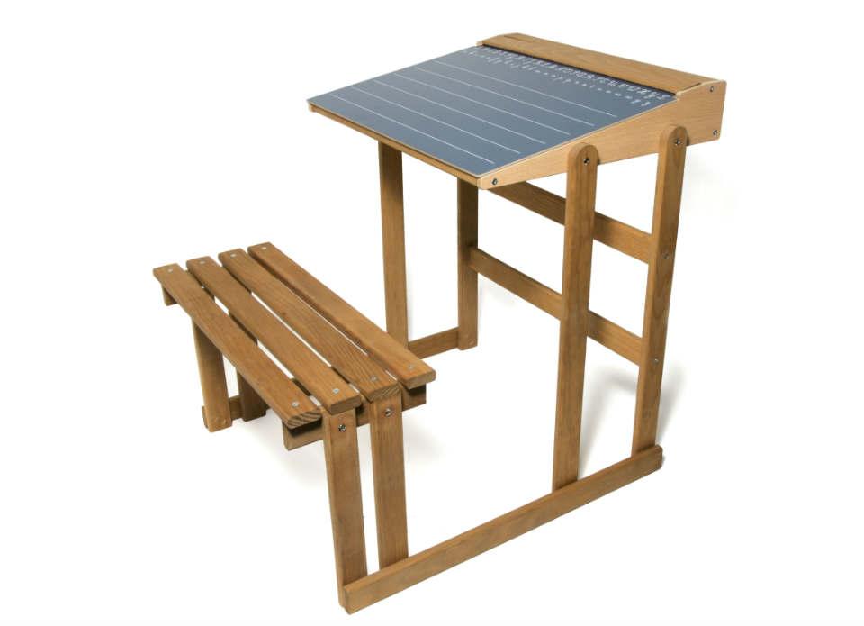 Bureau d écolier en bois